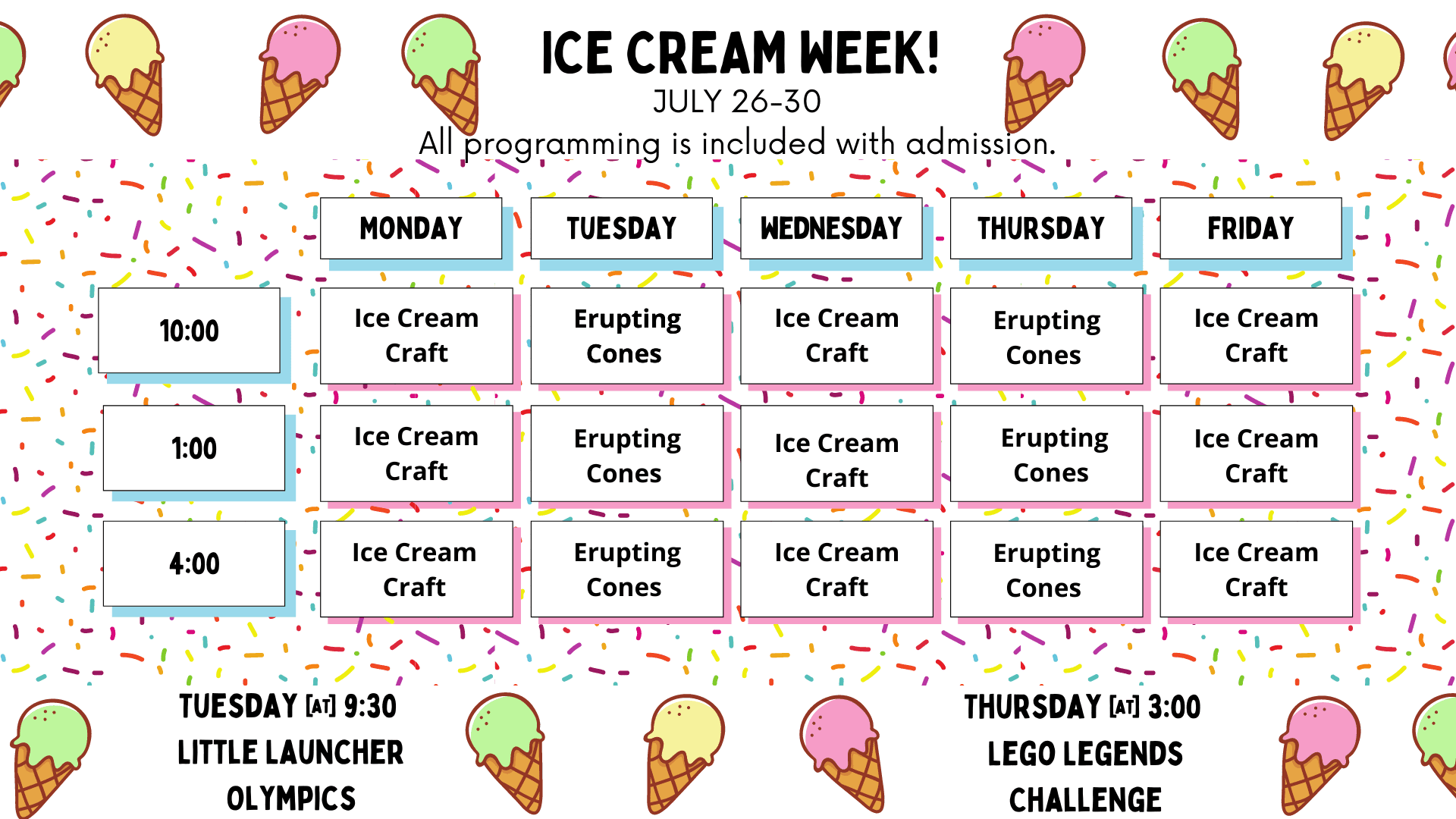 ICE CREAM WEEK!