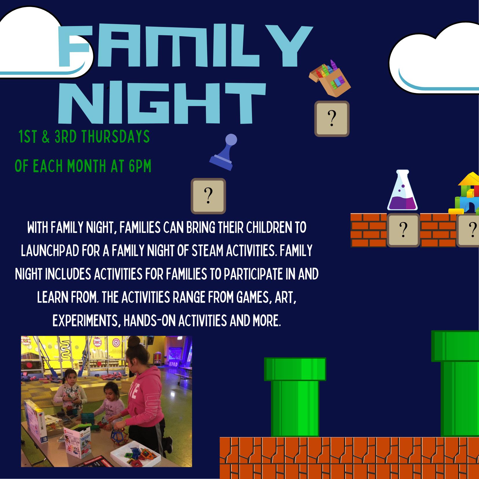 Blue Pixelated Game Night Invitation