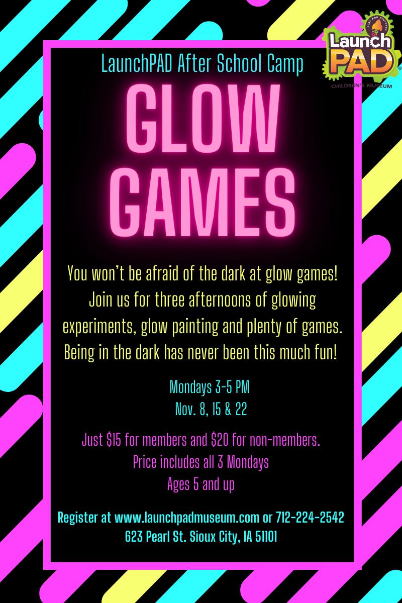 Glow Games Flyer