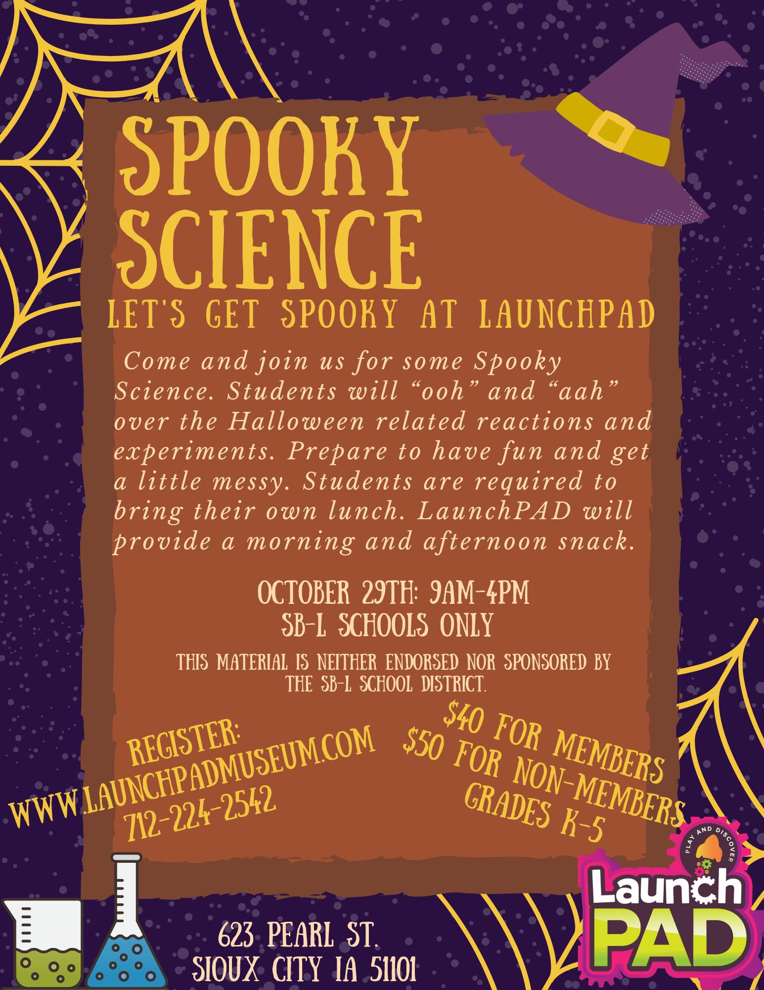Spooky Science Flyer